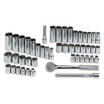 47 Piece 6 Point Fractional/Metric Socket Set