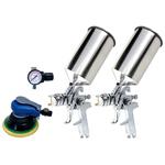 4-pc. HVLP Dual Set-Up Spray Gun Kit
