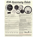 AutoMeter 60th Anniversary Rebate