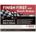 Fini$h Fir$t with Bosch Brakes Rebate