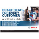 Bosch Brake Deals For Every Customer Rebate