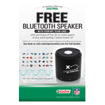 Castrol NFL Team-Specific Bluetooth Speaker Promotion