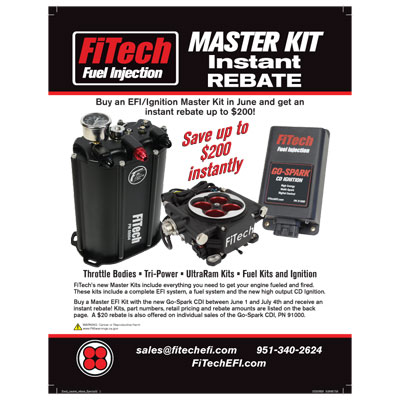 FiTech Fuel Injection Master Kit Instant Rebate
