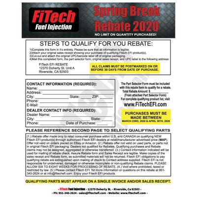 FiTech Fuel Injection Consumer Spring Break Rebate