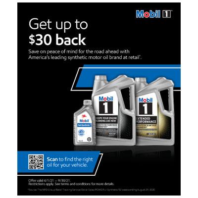 Mobil 1 Motor Oil Rebate
