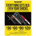"Monroe ""Everything Gets Old, Even Your Shocks"" Rebate"
